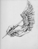The Artists Hand by murdered-doll