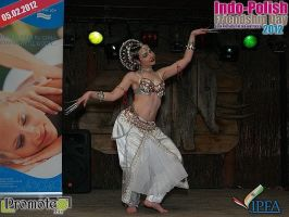 Indian Tribal Fusion Belly Dance - Odissi  pose by Apsara-Stock