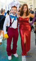 Roger and Jessica Rabbit Romics Ottobre 2014 by albeseba