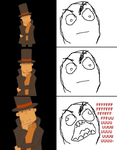 Rage Comic: Professor Layton by doodlegarmander