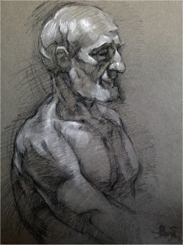 Portrait of a Man 2015 by lupodirosso