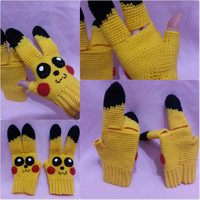Pikachu gloves by gardensofmay