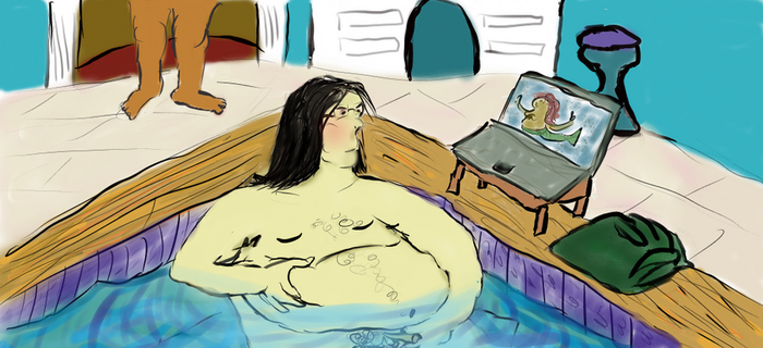 snape in the bath by jiggles-mcbellypuss