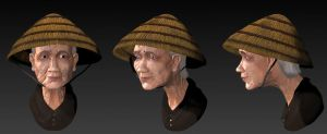 Old woman farmer by PPeerapat