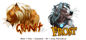Badges - Granit and Frost by Pample