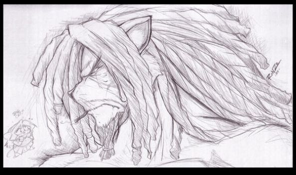LUNCHTIME SKETCH-UnNamed Lion by ShoNuff44