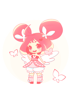 Pink Butterfly - oc by PumpkinSushi