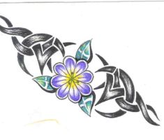 Tribal with Flower by proflow