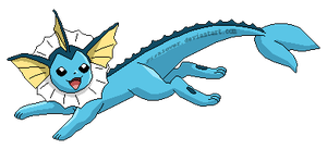 Dashing Vaporeon by Fishlover