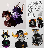 Homestuck Sketch Dump 02 by Res-Gestae