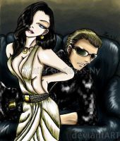 Excella loves Wesker by Chibi-Goddess-Ny
