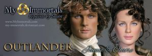 Jamie and Claire from Outlander by my-immortals