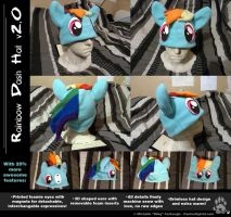 Custom Rainbow Dash Hat by CanineHybrid