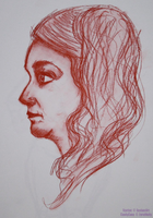 Portrait of a woman by Astromyxin