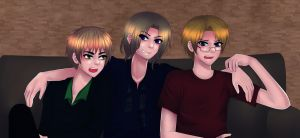 Aph: Blonde Triangle by SinfulHime