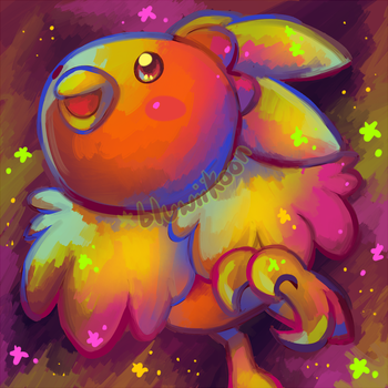Colourful Torchic by Bluwiikoon