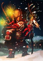 tribal santa by unded