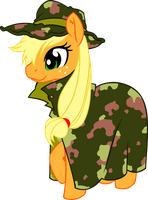 Applejack - Camouflage by Ookami-95