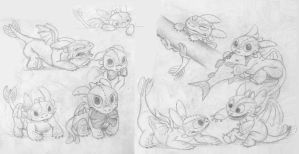 Toothless Baby Doodles2 by DanGref