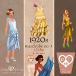1920s Fashion Paper Dolls Dollys and Friends by BasakTinli