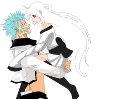 Dicha and grimmjow by ThaMutt