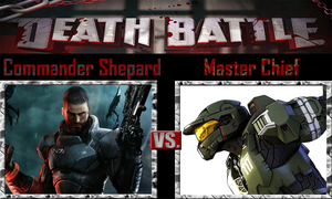 Commander Shepard vs Master Chief by SonicPal
