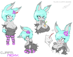 Nicky doodle sheet by SCIFIJACKRABBIT