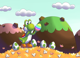 Yoshi and Easter Egg by FinnishPokemonFan96