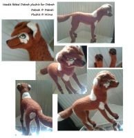 Needle felted Detrah plushie for Detrah by Mirnamiu