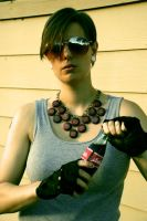 Nuka Cola Multi-Bottle Cap Brass Necklace by appleofecstacy