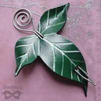 Elven Leaf Hair Slide or Shawl Pin by Beadmask