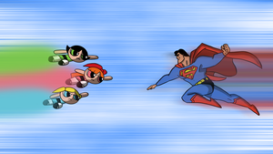Superman vs powerpuff girls :p by FreddieLaBella