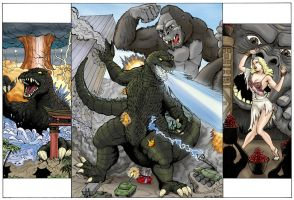 King Kong VS Godzilla by DocRedfield