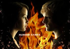 Katniss Everdeen and Peeta Mellark. by SunnySky1994