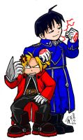 Fullmetal and Flame - SD style by zrana