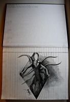 WAAAHH!! SLENDER IN MY BOOK OMG!! by Lmk-Arts