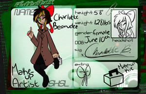 Hope Peaks Academy Application-Charlotte Bermudez by cluelessAvian