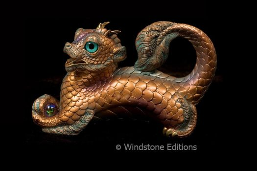 Young Oriental Dragon Copper Patina by Reptangle