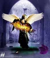 Fire in the hands of the angel by MeyGraph