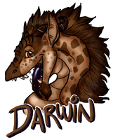 Darwin Bust Badge by BGArts