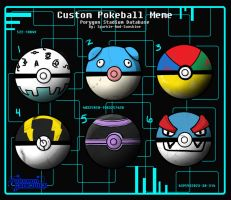 PGO Custom Pokeballs -Tatiana's Team by Inquisitive-Soul