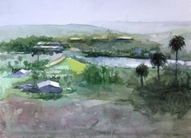 Rancho Santa Fe painting with Keiko Tanabe by VLStone