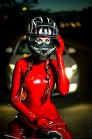 Red latex and bike by latex-rat