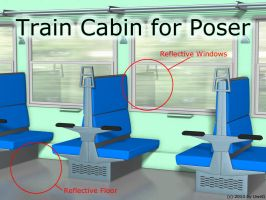 Freebie: Train Cabin For Poser by UweG