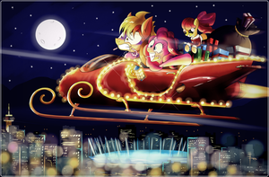 Sleigh Ride over Vanhoover by Ruhisu