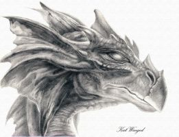Dragon head by Kat-Winged
