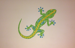 Salamander on the wall by Adamite85
