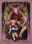 Chibi Moon and Black Lady by Draw-out-loud