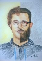 Pencil Portrait - Daniel Vettori (NZ sportsman) by varhead
