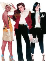 Vixen, Wonder Woman, and Zatanna - DC Fashion by kevinwada